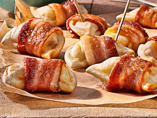 Bacon-Wrapped MINI Pierogies