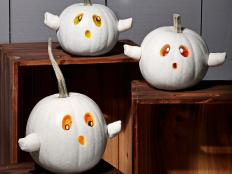 Use your favorite ingredients to decorate pumpkins with these steps from Food Network.