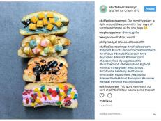 An NYC ice cream joint has introduced to the Instagramming masses an artisanal ice-cream stuffed house-made glazed doughnut.