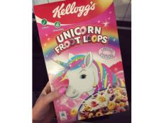 Kellogg's has bestowed upon a sparkly-rainbow-pony-obsessed world a limited-edition Unicorn Froot Loops.