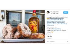A boundary-pushing New Jersey shop has created a bagel flavored with Fireball Cinnamon Whisky.