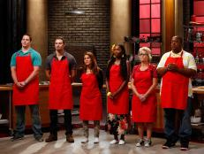 Find out which recruit was eliminated from the Red Team on Worst Cooks in America, Season 8.