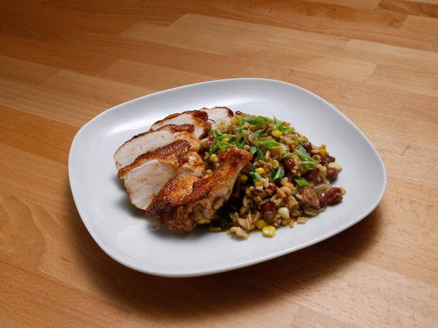 Chicken Breast with Dirty Rice