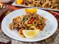 Fried Calamari with Sweet Orange Sauce