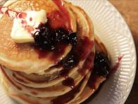 Buttermilk Pancakes with Blueberry Syrup