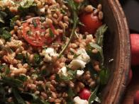Farro Salad with Radishes, Arugula and Feta