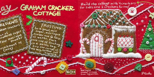 drawing inspiration cute christmas cottage fn dish behind the