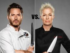 In this installment of Food Network's Rival Recipes, Next Iron Chef rivals Spike Mendelsohn and Elizabeth Falkner compete in a canned tomato cook-off.
