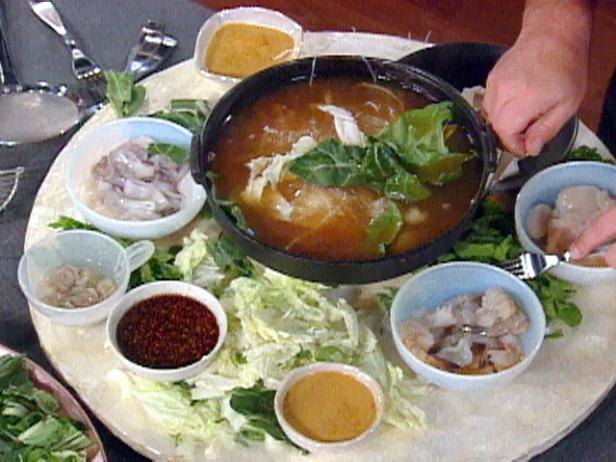 Chinese seafood hot pot recipe food network chinese seafood hot pot forumfinder Image collections