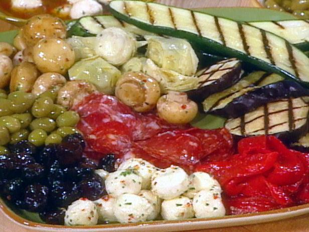 Antipasti platter recipe food network kitchen food network Ina garten appetizer platter