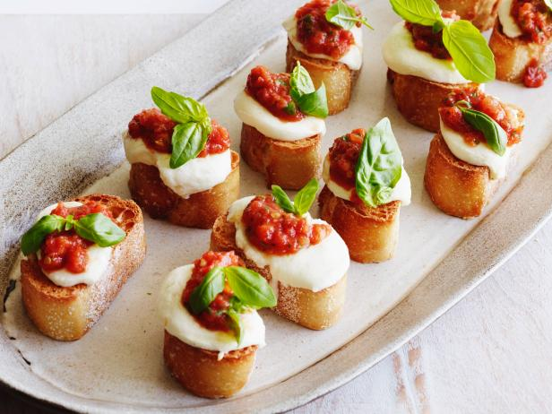 Tomato, Mozzarella and Basil Bruschetta