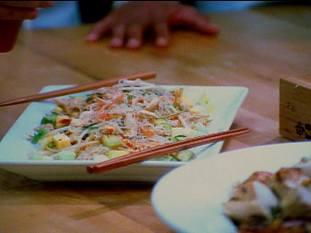 Thai Chicken and Glass Noodle Salad with Spicy Dressing