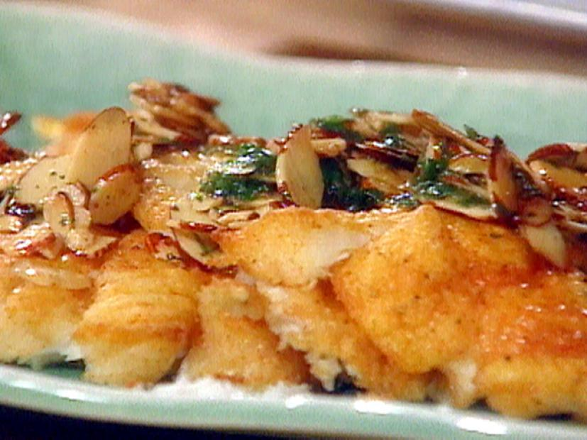 White Fish Fillets Amandine Recipe Food Network