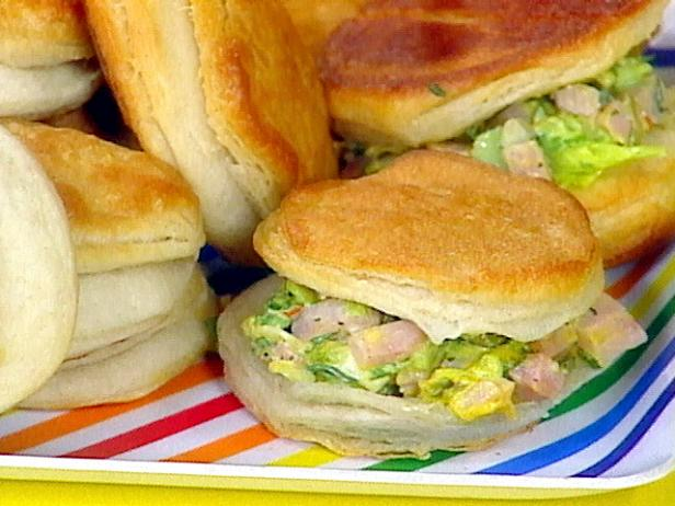Miss Leslie's Ham Salad on Biscuits