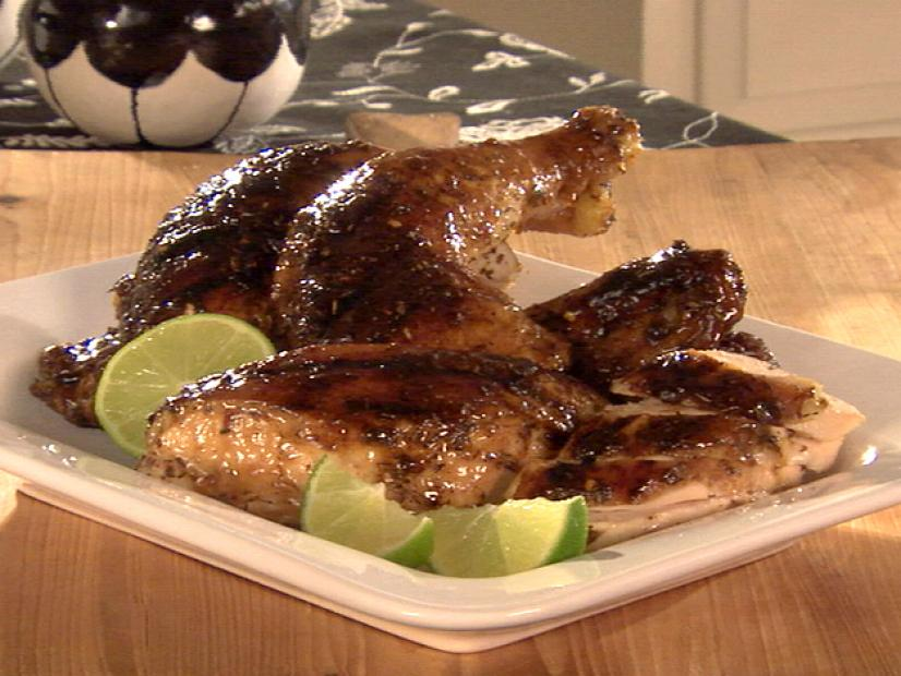 Butterflied Jerk Chicken Recipe Sandra Lee Food Network