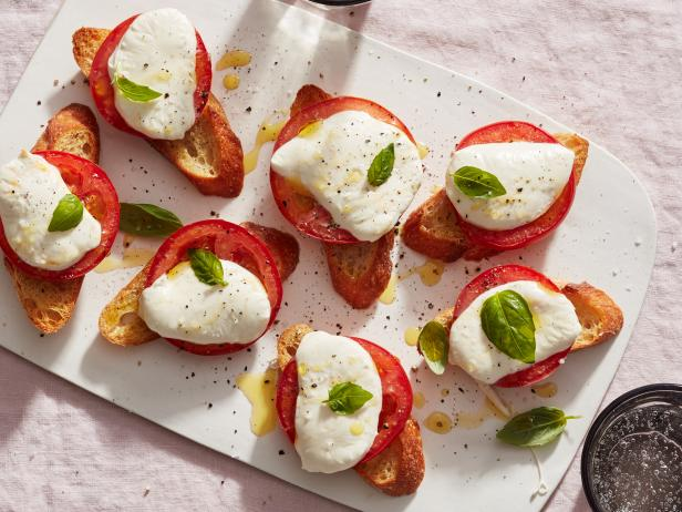 Giada De Laurentiis's Baked Caprese Salad, as seen on Food Network, Everyday Italian, season 8