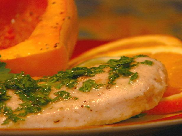 Oven-Baked Herb-Crusted Chicken with Parsley Olive Oil Sauce