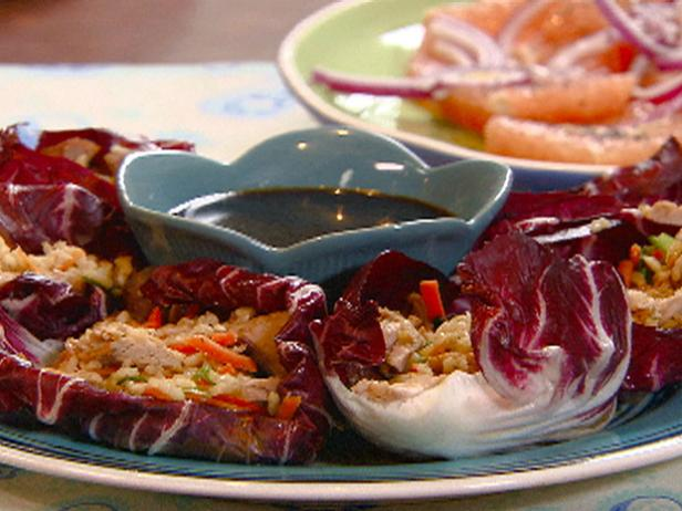 Radicchio Cups with Pork and Seasoned Rice