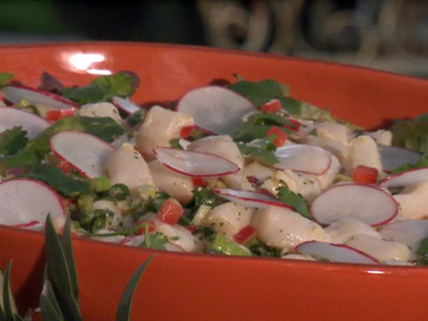 Bay Scallop and Grapefruit Ceviche with Avocado and Radish