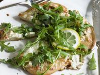 White Pizzas with Arugula