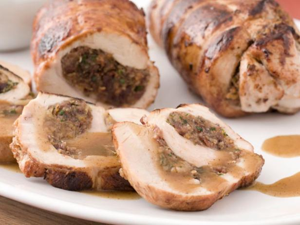 Turkey Roulade with Cranberry-Apricot Stuffing