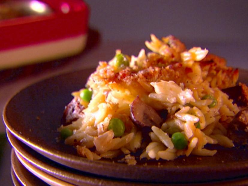 Baked Orzo With Fontina And Peas Recipe Giada De Laurentiis Food Network