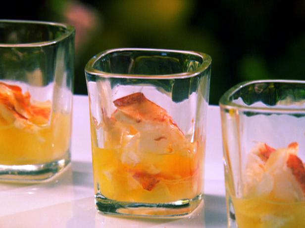 Butter Poached Lobster Shooters