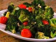 Roasted Broccoli with Cherry Tomatoes
