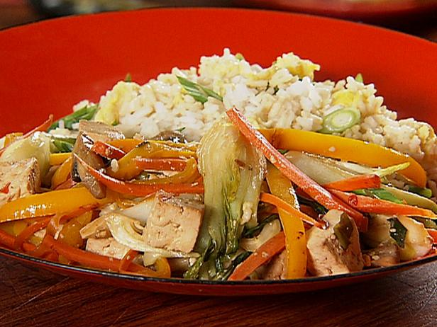 Tofu stir fry with fried rice recipe danny boome food network tofu stir fry with fried rice forumfinder Images
