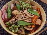 Asian Noodles in Broth with Vegetables and Tofu