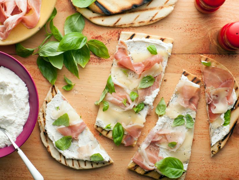 Italian Flatbread Piadina With Fontina And Prosciutto