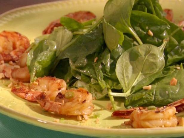 Shrimp 2 Ways: Soy Sauce-Grilled Shrimp with Spinach Salad and New-Style Scampi