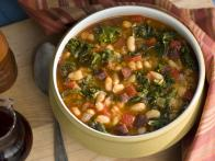 Spanish-Style White Bean, Kale and Chorizo Soup