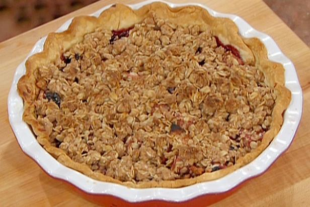 Apple And Cherry Pie With Oatmeal Crumble Topping Recipe Food Network