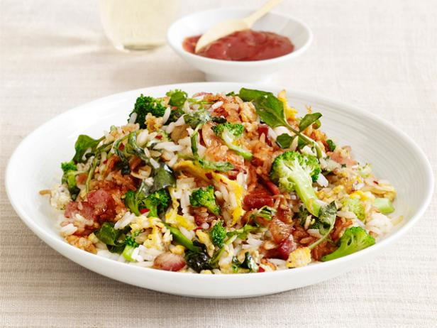 Vegetable fried rice with bacon recipe food network kitchen food vegetable fried rice with bacon forumfinder Images