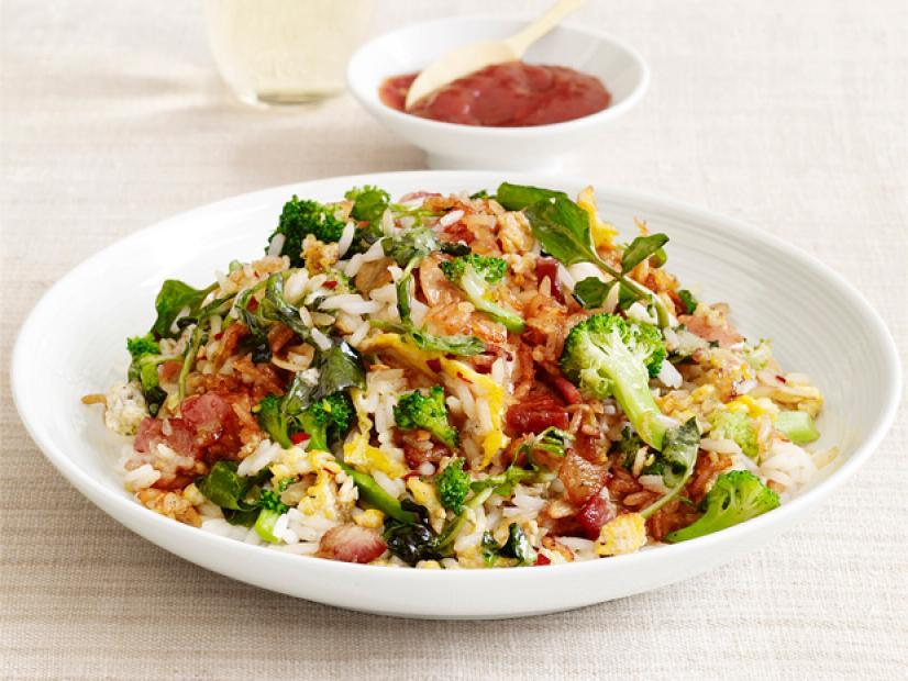 Vegetable fried rice with bacon recipe food network kitchen food vegetable fried rice with bacon recipe food network kitchen food network forumfinder Images