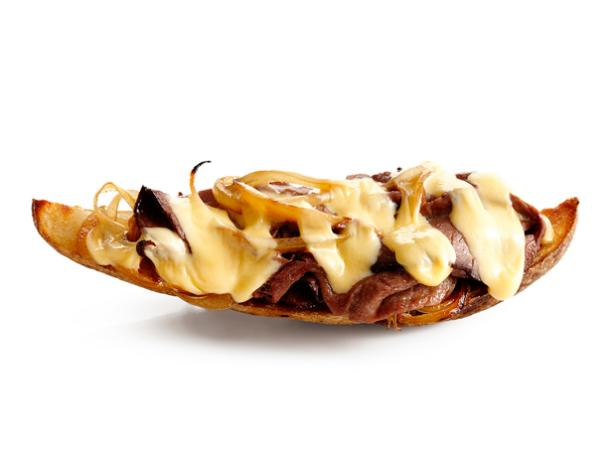Cheesesteaks Potato Skins