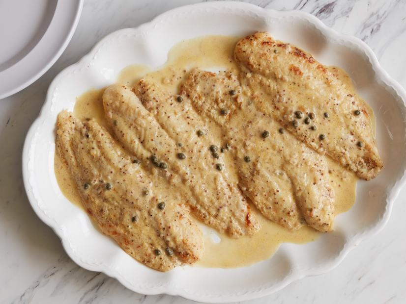 Mustard Roasted Fish Recipe Ina Garten Food Network,Brown Blue Gray Color Scheme