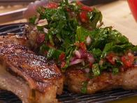 Grilled Veal Chops with Raw Sauce