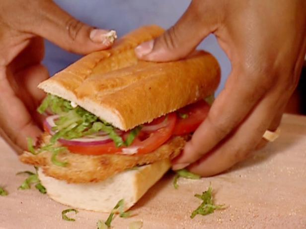 Fried fish sandwich recipe aaron mccargo jr food network for Who has the best fish sandwich