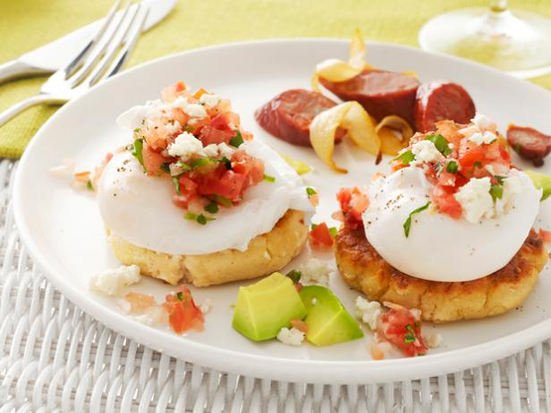 Masa Corn Cakes with Poached Eggs