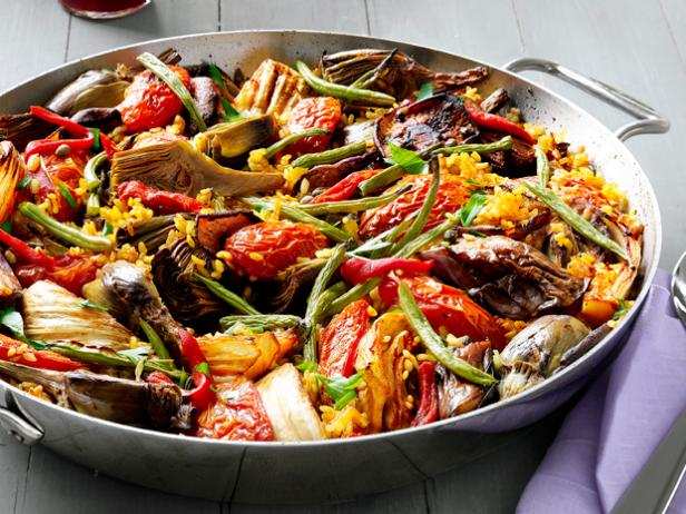 Vegetable paella recipe food network kitchen food network vegetable paella forumfinder