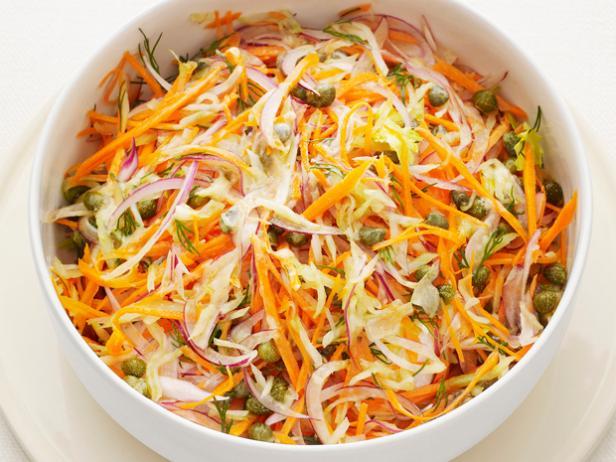 Carrot mustard slaw recipe food network kitchen food network carrot mustard slaw forumfinder Choice Image