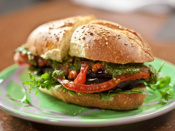 Roasted Eggplant and Tomato Subs