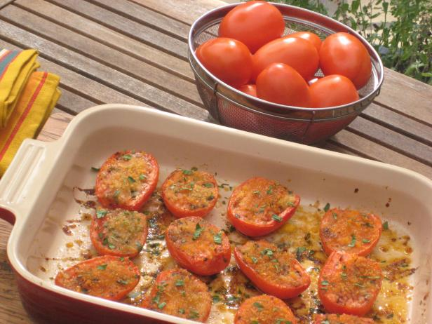 Roasted Tomatoes with Bread Crumbs