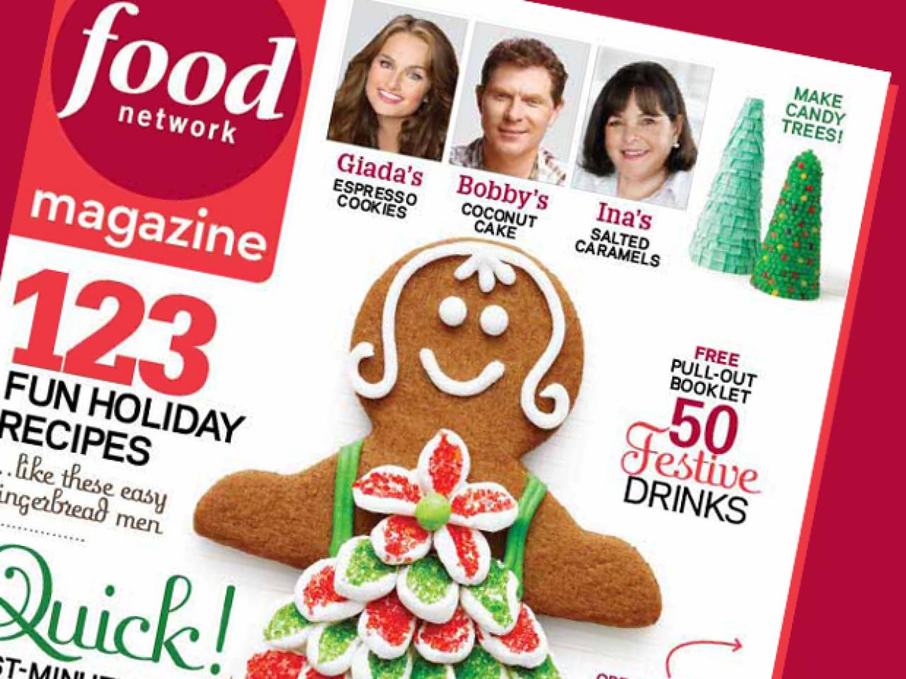 food network magazine december 2010 recipe index recipes and