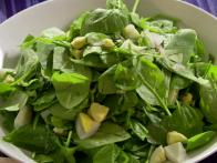 Lightly Wilted Spinach Salad