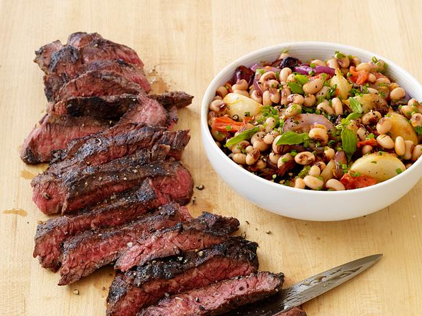 Grilled Steak with Black-Eyed Peas