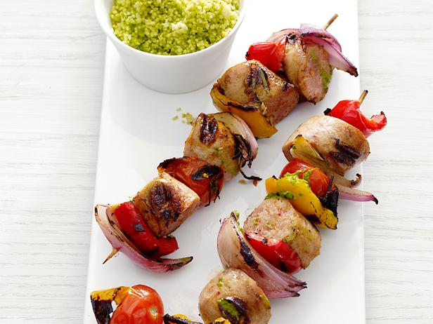Sausage-and-Pepper Skewers