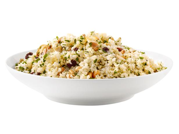 Quinoa with garlic pine nuts and raisins recipe ellie krieger quinoa with garlic pine nuts and raisins forumfinder